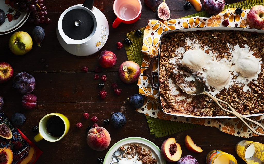 Sunset Magazine (Aug 18) on Cabin food story. Crisps & Pies